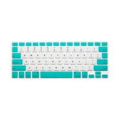 Keyboard Protector 12 Inch untuk Apple MacBook Air MacBook Pro (Putih dan Hijau Candy)