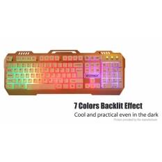Keyboard Warwolf K12 Gaming Mettal LIGHT