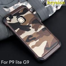Keysion Case untuk Huawei P9 Lite 2 In1 Army CAMO Kamuflase Pola PC + TPU Armor Anti-Knock Pelindung Back Cover untuk Huawei G9 Lite 5.2-Internasional