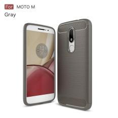 Keysion Case untuk Motorola MOTO M Terbaru Anti-DROP Soft Carbon Fiber Mewah TPU Back Cover untuk MOTO M Coque Kasus Telepon-Intl
