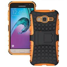 Keysion Case untuk Samsung J3 2016 Armor Cover Plastik Case Belakang untuk Samsung Galaxy J3 2016 J320F J3109 Tas Telepon Kasus dengan Kick Stand-Intl
