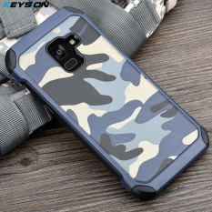 KEYSION Phone Case for Samsung Galaxy A8 Plus (2018) Army Camo Camouflage Pattern PC+TPU 2 in1 Anti-knock Back Cover for A8 Plus - intl