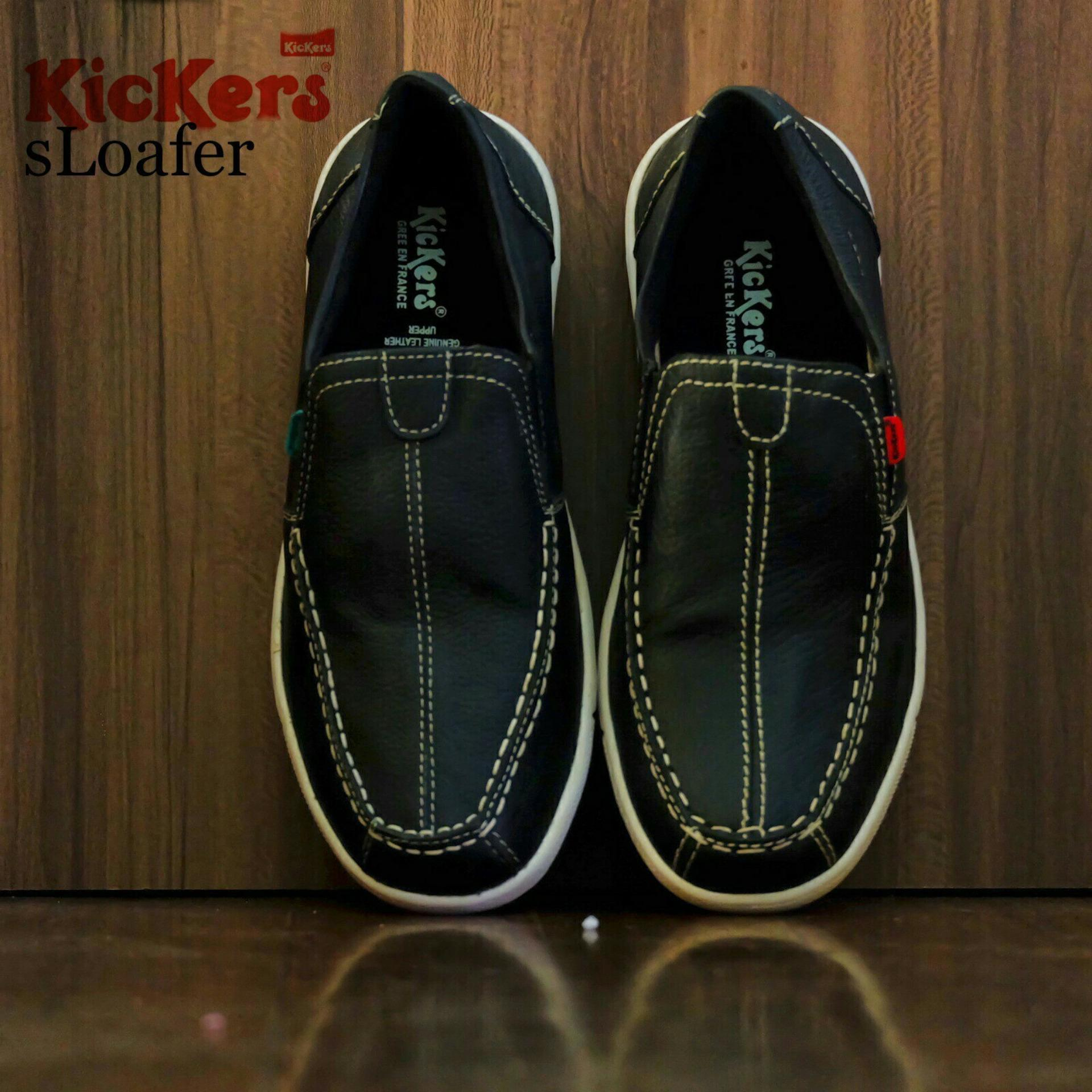 Kickers Loafers Kulit Asli -  Center Strip