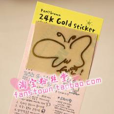 Jintai Stiker 24 K Logam Penggemar Anti Radiasi Ukuran Besar/L