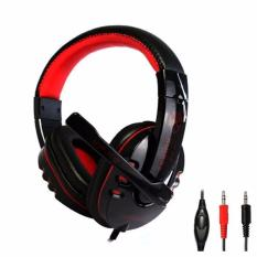 Kinbas VP-X9 HiFi Gaming Headset dengan Mic Microphone High Quality Peralatan Audio Video Headphone Game Main Team Online Multiplayer Game RPG MMORPG Real Time Strategy Battle Net Play First Person Shooter Komputer Gamers LAN - Hitam