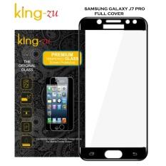 King Zu Tempered Glass for Samsung Galaxy J7 Pro 2017 SM-J730 Full Hitam