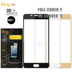 King Zu Tempered Glass for Samsung Galxy J7 Pro Full- PUTIH
