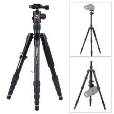 Kingjoy K009 135 Cm/4.4ft Portabel Kamera Tripod Monopod Trekking Tongkat Aluminium Paduan dengan Bola Kepala Pelepasan Rilis Cepat penyangga Rendah Sudut Macro Fotografi Panorama Maks. beban 8Kg/17.6Lbs untuk Canon Nikon Sony DSLR-Internasional