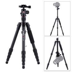 Kingjoy K029 135 Cm/4.4ft Ringan Portabel Karbon Serat Kamera Tripod Monopod Trekking Tongkat dengan Bola Kepala Cepat Melepaskan piring Penyangga Rendah Sudut Macro Fotografi Panorama Maks. beban 8Kg/17.6Lbs untuk Canon Nikon Sony DSLR-Internasional