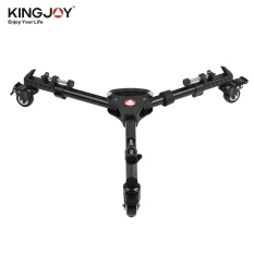 Kingjoy VX-600 Pro 3 Tripod Roda Pulley Universal Folding Camera Tripod Dolly Base Stand W/Tas Nilon Max. Load 20 Kg-Intl