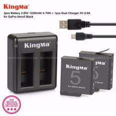 Cuci Gudang Kingma Battery 1220Mah Dual Charger Usb For Gopro Hero 5 Black