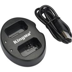 Kingma Dual Battery Charger for Sony A5000 A5100 A6000 A7R NEX6 5T 5R 5N - NP-FW50 - Black