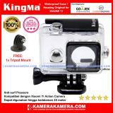 Spesifikasi Kingma Original Waterproof Case Free Tripod Mount For Xiaomi Yi International Xiaomi Yi Travel Baru
