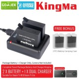 Spek Kingma Paket Complete Battery Charger Set 2 Baterai 1 Charger For Xiaomi Yi 4K 4K Plus Lite Kingma