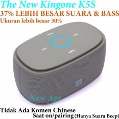 Kingone K5S (Super) Bluetooth Speaker 37% LEBIH BAGUS SUARA & BASS Dari (K5 Biasa yg lama)  - Tanpa Komen Chinese Saat Pairing/on - Grey