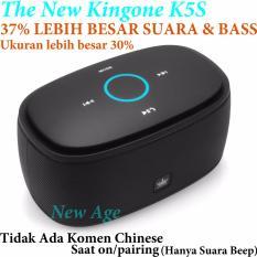 Kingone K5S (Super) Bluetooth Speaker 37% LEBIH BAGUS SUARA & BASS(Dibanding K5 biasa yg lama) - Tanpa Komen Chinese Saat Pairing/on - Hitam