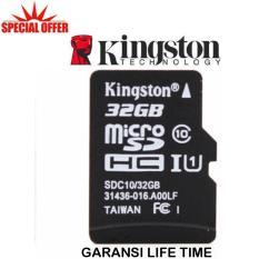 Kingston Memory Card MicroSDHC 32GB/80MB UHS-1 Class 10 - Hitam