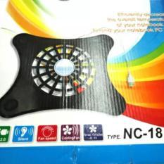 Kipas Laptop/Cooling Fan/Cool Player Merk Ace Nc-18 Untuk Ukuran 10-14 Inch