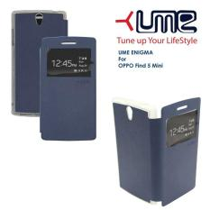 (Kirim Sore Ini) Flip Soft Case UME Imagine OPPO R827 (Find 5 Mini)