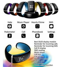 Spesifikasi Kisnow Bluetooth Bracelet Wristband Speakerphone Caller Id Shocking Runing Sports Smart Watches Color Purple Intl Terbaik