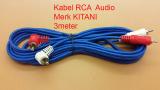 Toko Kitani Kabel Audio Rca 2 K 2 Male Merk Kitani Cable Rca Panjang 3M Kitani