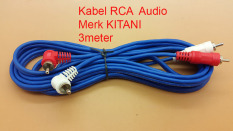 Review Kitani Kabel Audio Rca 2 K 2 Male Merk Kitani Cable Rca Panjang 3M