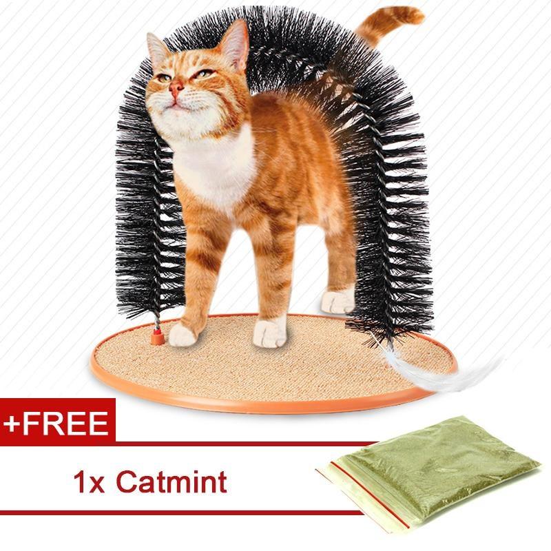 Review Kitty Cat Purrfect Arch Self Groomer Dan Massager Permainan Hewan Peliharaan Mainan Intl Tiongkok