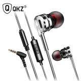 Jual Knowledge Zenith Bass Metal Earphone With Mic Qkz Dm9 Silver Knowledge Zenith Di Dki Jakarta
