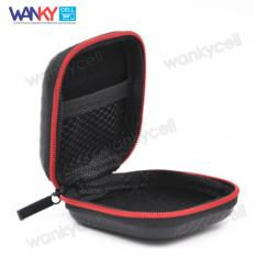 Knowledge Zenith High Quality Tas Headset Earphone Case Bag - Black/Red