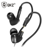 Harga Knowledge Zenith Sport Detachable Cables In Ear Earphones With Microphone Qkz W1 Pro Black Murah