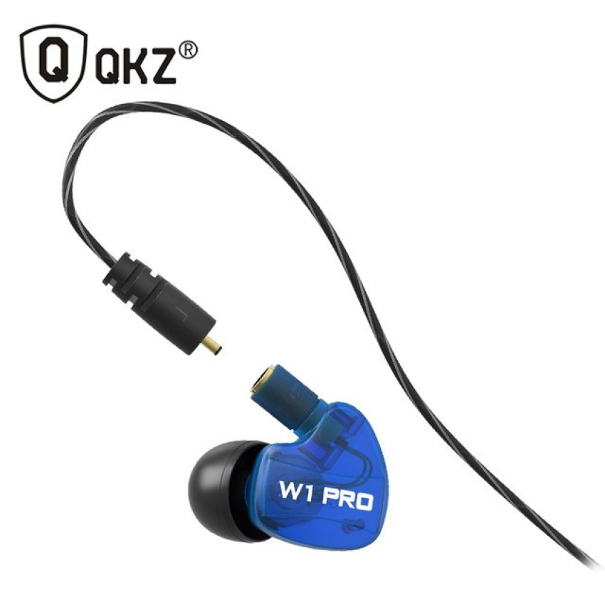Promo Knowledge Zenith Sport Detachable Cables In Ear Earphones With Microphone Qkz W1 Pro Blue Akhir Tahun