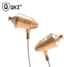 Knowledge Zenith Super Stereo In Ear Earphones With Microphone Qkz Dm5 Golden Original