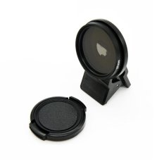 Kobwa Lensa iPhone, 37 Mm Lensa Kamera Profesional Circular Polarizer Kit Klip Di UNTUK iPhone 6/6 Plus/6 S/6 S Plus/5 /5 S/4/4 S, iPad Air/Mini, Samsung Galaxy/Note, Sony Xperia (Hitam)-Intl