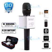 Kokakaa MICGEEK Q9x KaraokeMicrophoneBluetooth Wireless + USB PortableRechargeable - Hitam