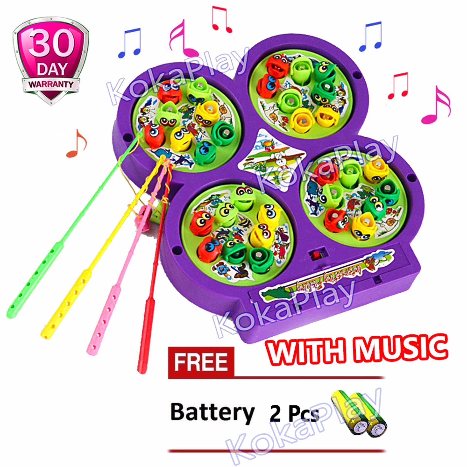Katalog Kokaplay Magnetic Fishing Game Music Mainan Piano Pancing Ikan Magnet Musik 4 Kolam Free 2 Baterai Kokaplay Terbaru