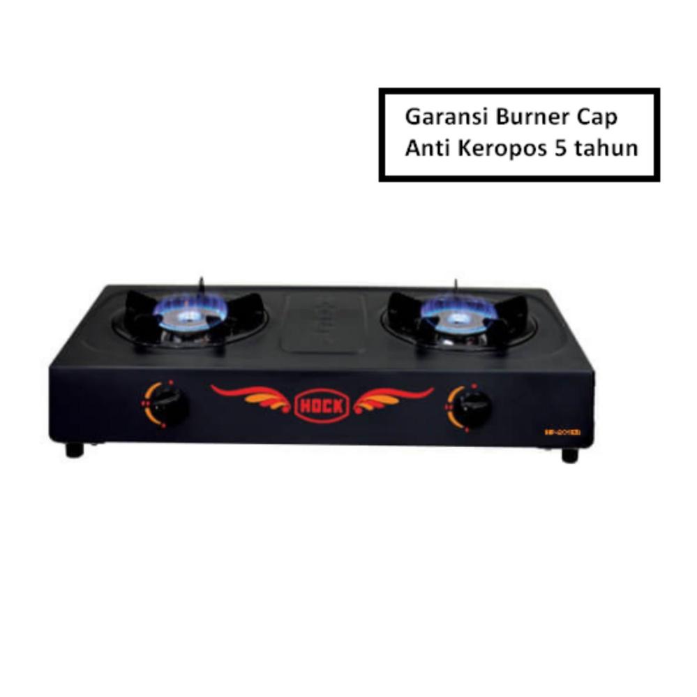 Kompor Gas Hock Elegant Deluxe 2 tungku (Burner Stainless) - HP 201ED