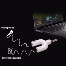 Jual Konektor Jack Y Spliter U Aux 3 5Mm Ke Audio Headset Mic Splitter Lengkap