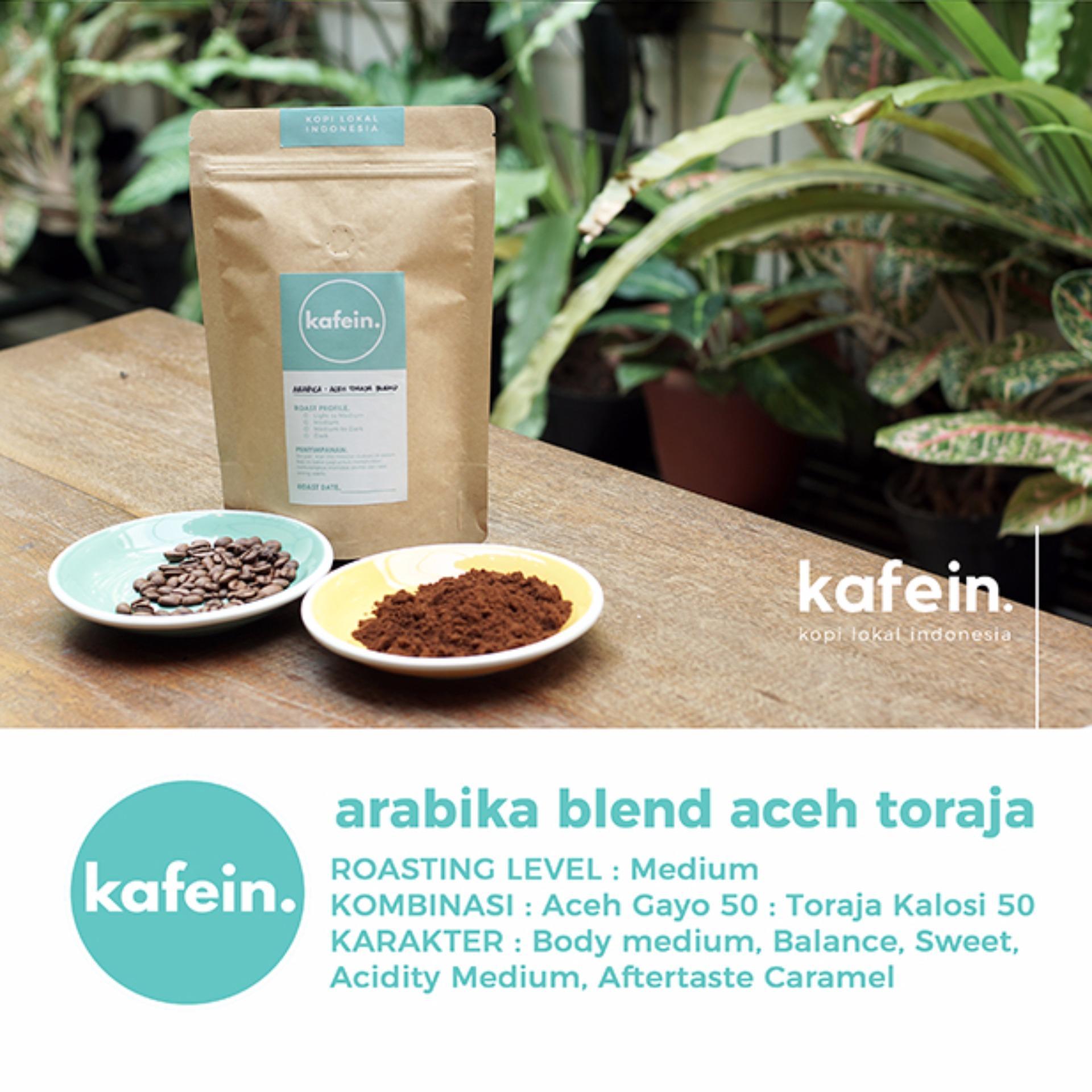 Beli Kopi Arabika Blend Aceh Toraja 250 Gram Biji Bubuk Kafein Online