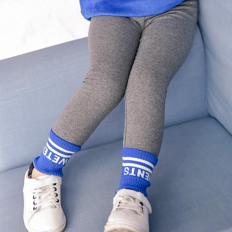 Korea Fashion Style Baru Anak Perempuan Kecil Celana Cargo Legging (Abu-abu)