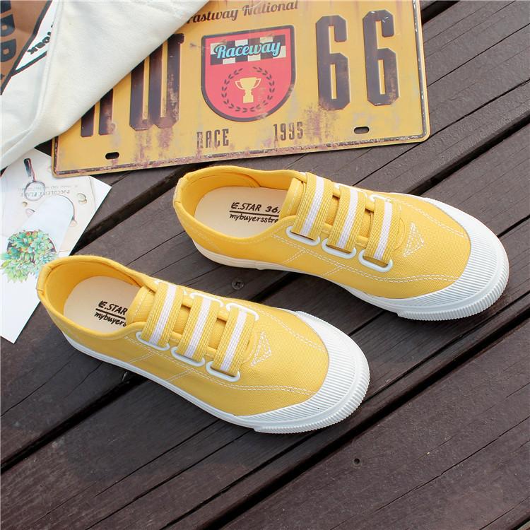 Warna Permen Kets Putih Korea Gaya Busana Gelang Karet Baru Sulap Sepatu Wanita (Kuning)