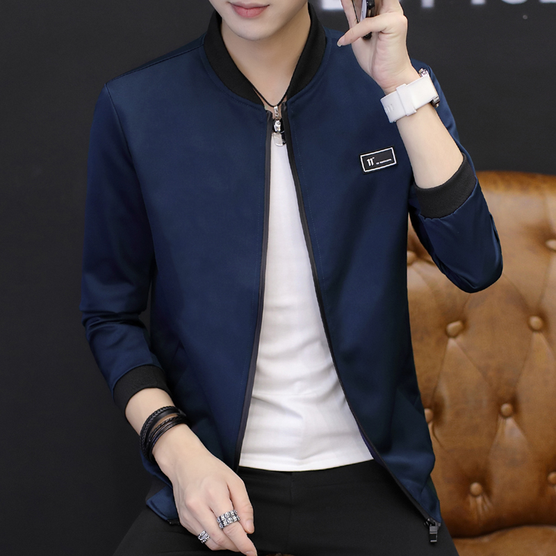 Beli Pakaian Bisbol Pria Membentuk Tubuh Versi Korea 2701 Biru Tua 2701 Biru Tua Online Murah