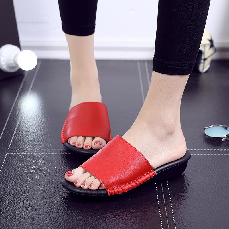 Pusat Jual Beli Sendal Korea Fashion Style Musim Panas Sandal Modis Perempuan Merah Tiongkok