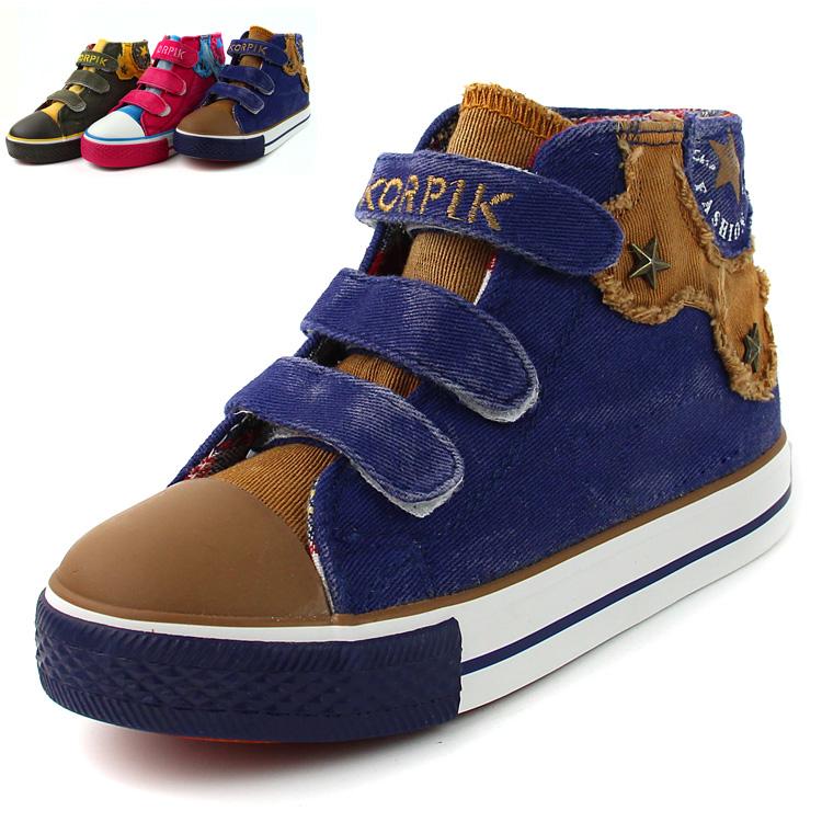 Harga Korea Fashion Style Pergelangan Kaki Tinggi Sepatu Anak Perempuan Anak Sepatu Kanvas Merk Oem