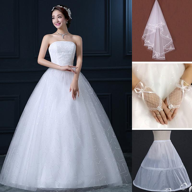 FS & ZS/Busana Wanita Cantik Ramping Beha Gaun Renda Pernikahan (FSH350 Anda Mengirim Dukungan Kelompok Kerudung Sarung tangan) (FSH350 Anda Mengirim Dukungan Kelompok Kerudung Sarung Tangan)