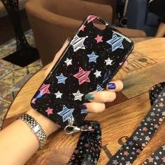Korea Lucu Gaya Bintang Gambar dengan Tali Penyandang Telepon Case untuk Apple iPhone 6/6 S/6 Plus/ 6 S Plus/7/7 Plus/8/8 Plus-Internasional