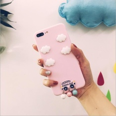 Korea Pink Cute Little Mobil Phone Case untuk IPhone 7 Plus-Intl