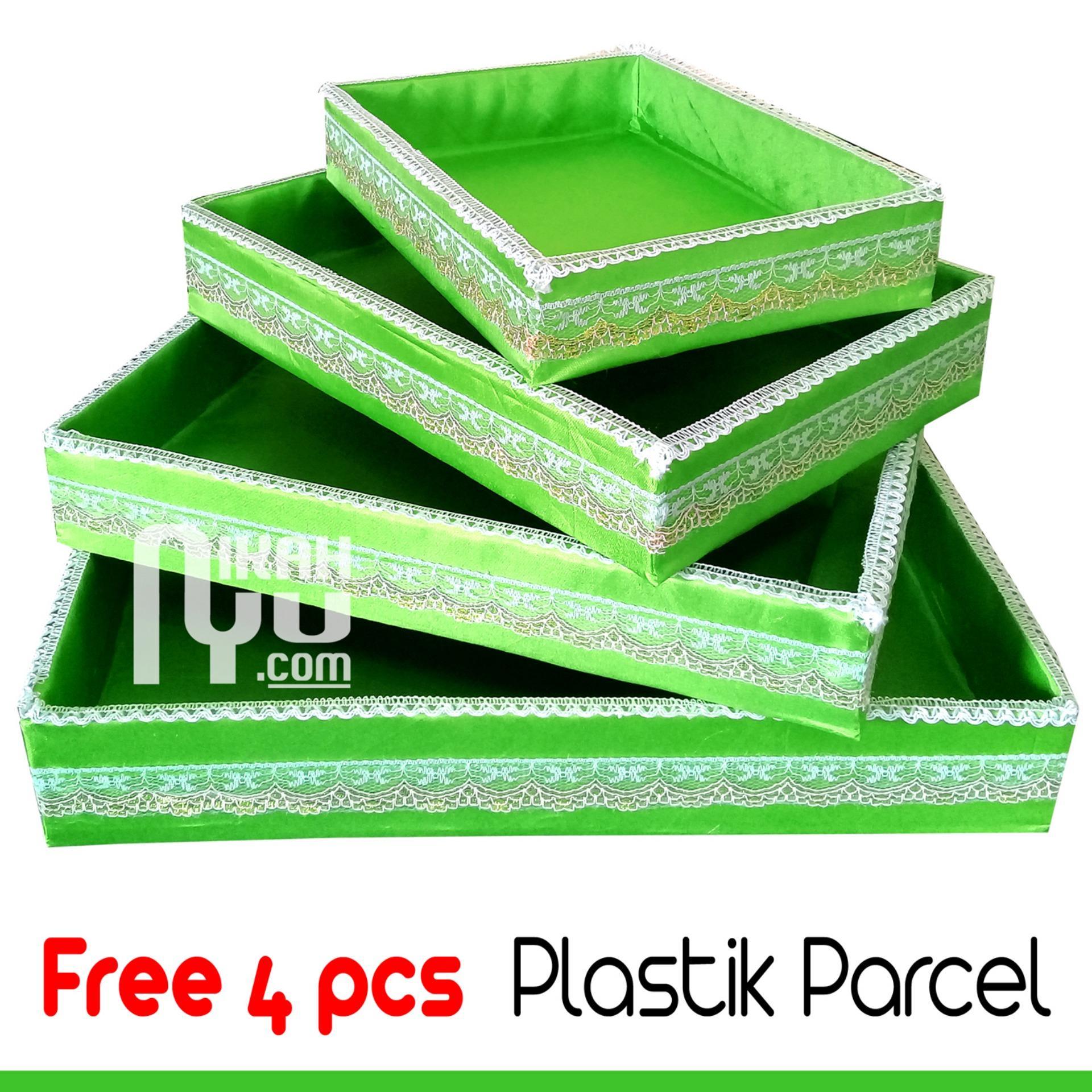 Kotak Hantaran Seserahan Isi 4 Harga Murah Gratis 4 Pcs Plastik Parcel