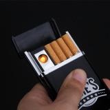 Diskon Kotak Rokok 8Pcs Dengan Korek Elektrik Black Branded