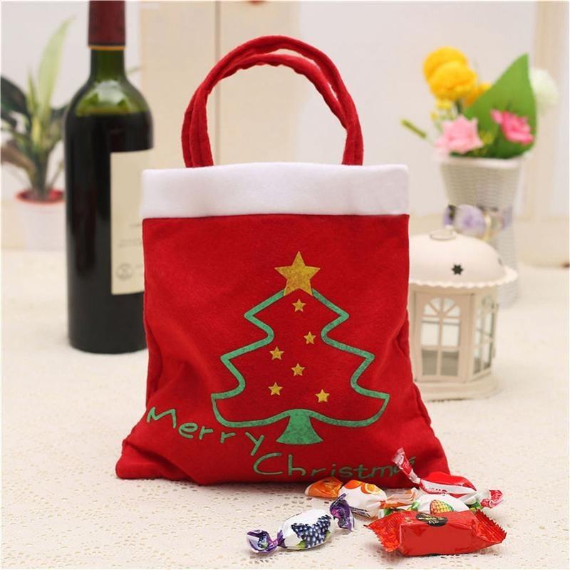 Kreatif Pola Pohon Natal Santa Claus Candy Bag Handbag Home Dekorasi Pesta Hadiah Tas Natal Supplie Gratis Pengiriman-Intl