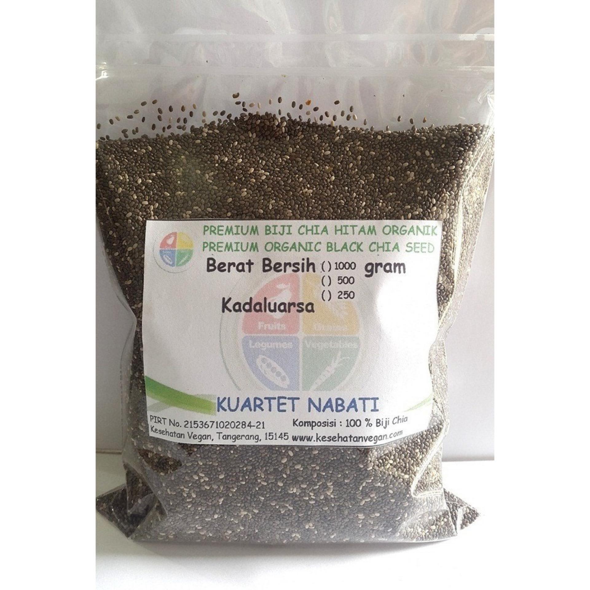 Spesifikasi Kuartet Nabati Premium Organic Black Chia Seed Premium Biji Chia Hitam Organik 250 Gr Dan Harga